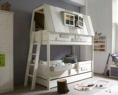 Køb seng med legetårn til børneværelset