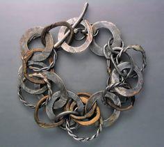 Bracelet | Temi Kucinski. Silver and Bronze