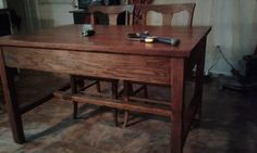 [d]Years ago I bought this old farmhouse table at a flea market for 12.00. For years I wanted to convert it into a kitchen island but never got around to it. Th…