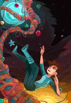 ArtStation - Yarn Strings(Broken Age), Erik Ly Draw Something, Scary, Old Things, Illustration Art, Geek Stuff, Fandoms, Fan Art, Age, Cops