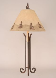 Iron Table Lamp w/3 Legs
