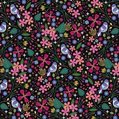 Carly Watts Illustration: Oleander #birds #flowers #plants #folk #floral #decorative