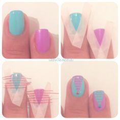 Tuto triangle nail