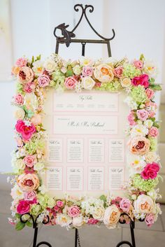 Gorgeous flower table plan by Lily and Lottie Stationery