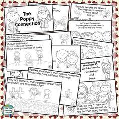 Remembrance Day! Remembrance Day, Teaching Kindergarten, Citizenship, Grade 3, Line Art, Poppy, November, Canada, Student