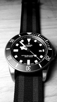Tudor Pelagos - 42mm titanium case, unidirectional ceramic bezel, helium escape valve, nato strap