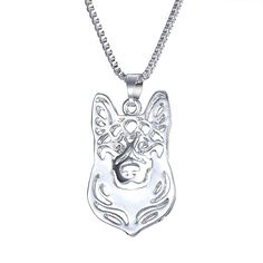 Chic Handmade German Shepherd Necklace. 30% proceeds from every purchase goes to animal charities.