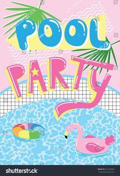 Invitation Cards, Invitations, Cool Pools, Cute Cartoon, Neon Signs, Image, Pool Fun, Google, Summer