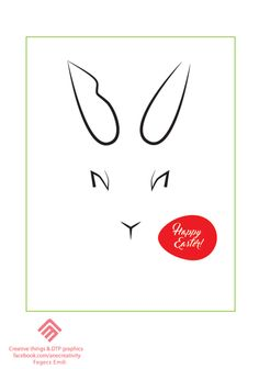 bunny face easter