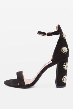 MIMI Embellished Block Heel Sandals