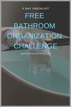 If your bathroom could use a little organizing, Heartland Lettering's bathroom organization challenge is a 5 day challenge that organizes everything in your bathroom. Home Organization Hacks, Bathroom Organization, Organizing Ideas, Organising Tips, Diy Bathroom Decor, Bathroom Ideas, Tidy Up, Bathroom Declutter, Supply List