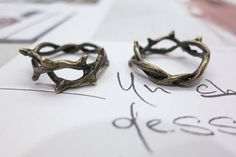 Hey, I found this really awesome Etsy listing at http://www.etsy.com/listing/130085080/2-rings-vintage-brass-branch-stack-ring