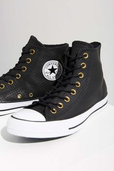Converse Chuck Taylor Perforated Leather Sneaker http://www.95gallery.com/