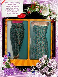 Kain Fashion Printing Motif Batik, Bisa Pesan ukuran & menerima seragaman