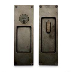 "BAR POCKET DOOR - Sun Valley Bronze - LOCKING POCKET DOOR SET -  ""CS-FP450ML  FINISH: W-3""  2 3/4"" X 8 3/4""."
