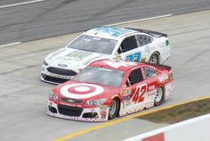 Kyle Larson and Joey Gase at Martinsville - Photo by Alan Wiltsie