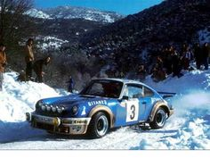 Porsche 911 Carrera Number 3 driven by Jean-Pierre Nicolas and Vincent Laverne to win the 1978 Monte Carlo Rally.