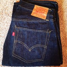 1940'S Levi's 501XX Leather Patch. One Side Red Tab Deadstock Size 34X36 #Padgram