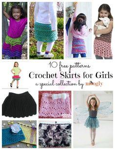 Free Crochet Patterns for Skirts for Girls ✿⊱╮Teresa Restegui http://www.pinterest.com/teretegui/✿⊱╮