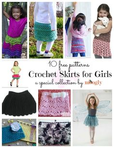Super cute #crochet skirts for girls! And they're all free! ♥ See this special collection at Mooglyblog.com