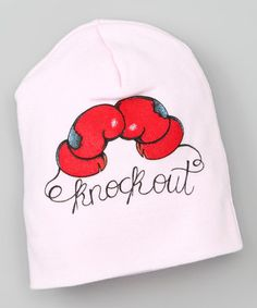 Take a look at this Simply FaBOWlous Pink 'Knockout' Tattoo Beanie by Simply faBOWlous & Republic of Pigtails on #zulily today!