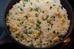 Wali wa Kukaanga (Kenyan Fried Rice) – served hot garnished with fresh tomatoes (not shown on this picture) ….