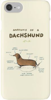 Anatomy of a Dachshund iPhone 7 Cases