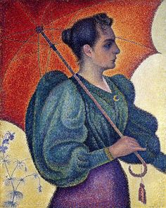 1893, Woman with a parasol (Berthe Signac), by Paul Signac