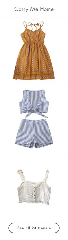 """Carry Me Home"" by the-heretic-child ❤ liked on Polyvore featuring dresses, slip dresses, argyle dress, fit and flare slip, brown dresses, fit and flare dress, shorts, zaful, tops and crop tops"