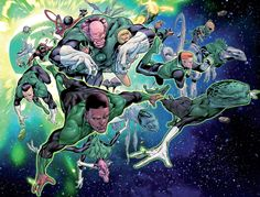 "The Corps in Hal Jordan & the Green Lantern Corps #1 ""Sinestro's Law"" (2016) - Rafa Sandoval, Inks: Jordi Tarragona, Colors: Moreu Morey"