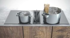 Odsávání z pracovní desky mezi varné zóny. (indukce /sklokeramika)  SIRIUS SDD 17 JOLLY Kitchen, Home, Design, Simple Lines, Cooking, Kitchens, Ad Home, Homes, Cucina