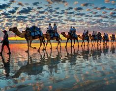 Cable Beach, Australia.  This is so cool!