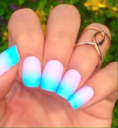 Image via We Heart It https://weheartit.com/entry/151121063 #cute #nailart #nails #pink #spring #summer #turquoise