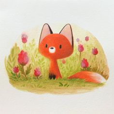 ideas color pencil I just finished this little one ! ✨Here I used Luminace colored pencils and Mu. I just finished this little one ! ✨Here I used Luminace colored pencils and Museum watercolor pencils on Saunders Waterford watercolor… Fuchs Illustration, Cute Animal Illustration, Pencil Illustration, Watercolor Illustration, Watercolor Pencil Art, Easy Watercolor, Watercolor Animals, Watercolor Paper Texture, Fox Art