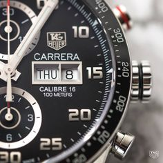 "d427b719bee ""Meet the new TAG Heuer Carrera Calibre 16 Day-Date. This sleek timepiece.  JoiasRelógios FashionMen s WatchesRelógios ..."