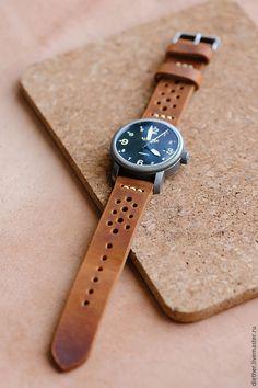 Купить или заказать Ремешок из натуральной кожи для часов в интернет магазине на Ярмарке Мастеров. С доставкой по России и СНГ. Материалы: кожа, натуральная кожа, вощёная нить,…. Размер: Данная модель - 22 мм.<br /> Возможно…