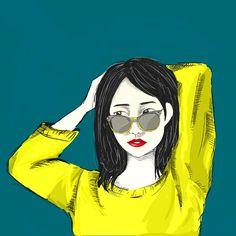 Beauty pose #girl#art#digital#drawing