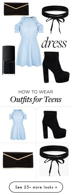"""""""Black Sweetheart"""" by phiwiplife on Polyvore featuring Boohoo, New Look and NARS Cosmetics"""