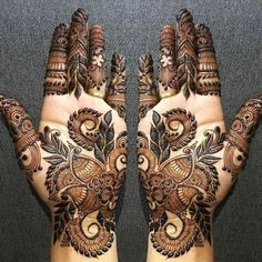 Mehndi henna designs are always searchable by Pakistani women and girls. Women, girls and also kids apply henna on their hands, feet and also on neck to look more gorgeous and traditional. Indian Henna Designs, Mehndi Designs Book, Modern Mehndi Designs, Dulhan Mehndi Designs, Mehndi Design Pictures, Wedding Mehndi Designs, Latest Mehndi Designs, Mehndi Designs For Hands, Henna Tattoo Designs