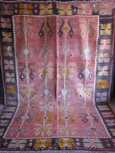 Turkish Antique Anatolian Hand Woven Nomadic Slit Kilim Rug | eBay