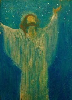 Original Angel sm. Painting Spiritual Inspirational Healing Energy by Breten Bryden Brydenart.com  #angels