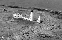 Aerial view of Wood Island Lighthouse Photograph courtesy U.S. Coast Guard
