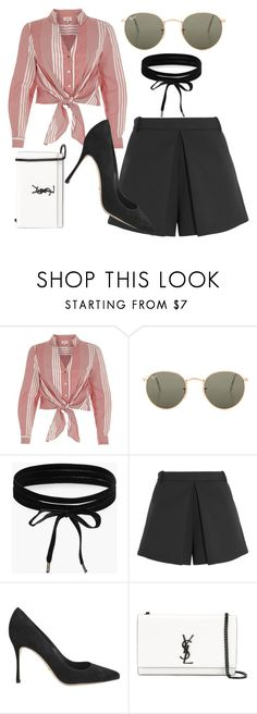 """High class fashion"" by triceyfashion on Polyvore featuring River Island, Ray-Ban, Boohoo, Balenciaga, Sergio Rossi and Yves Saint Laurent"