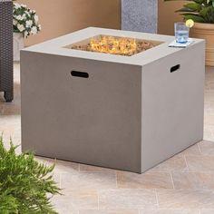 Caelan Outdoor Concrete Propane Gas Fire Pit Gas Firepit Natural Gas Fire Pit Propane