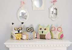 So cute!! Scrappy Owl Pillow with Tutorial.