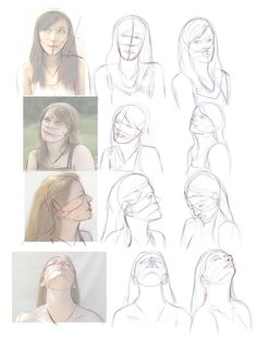 how to draw head from different angles - Google-søgning