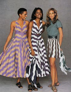 My model crushes back in the day… Louise Vyent, Karen Alexander & Ilonka Toppenberg Karen Alexander, Timeless Fashion, Vintage Fashion, African American Fashion, Azzedine Alaia, Black Image, Mode Editorials, Black Models, Female Models