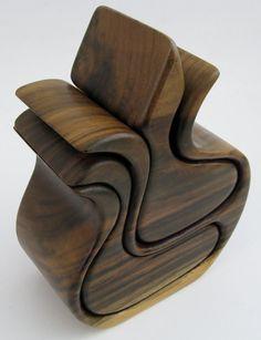 Bandsaw Walnut Wood Box by LARetroDesign on Etsy