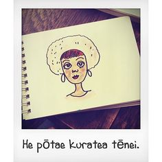 #TeReoMāori This is a pink hat. #doodle #drawing