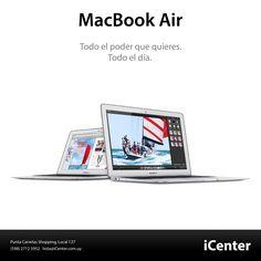 La MacBook Air ahora tiene todo para un desempeño único. Esta portátil incluye una batería que dura todo tu día, procesadores Intel Core de cuarta generación con gráficos y almacenamiento en flash más rápidos, y la nueva tecnología de conectividad inalámbrica Wi-Fi 802.11ac.
